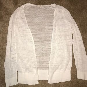 White buttoned cardigan